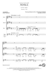 Royals (arr. Deke Sharon) Sheet Music by Ella Yelich-O'Connor