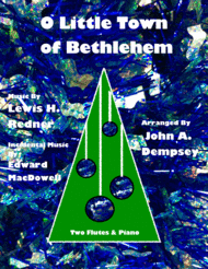 O Little Town of Bethlehem (Trio for Two Flutes and Piano) Sheet Music by Lewis H. Redner