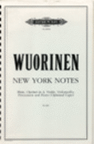 New York Notes Sheet Music by Charles Wuorinen