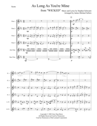 As Long As You're Mine (for Flute Choir) Sheet Music by Stephen Schwartz