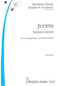 Judith (Cantata) Sheet Music by Elisabeth-Claude Jacquet de La Guerre