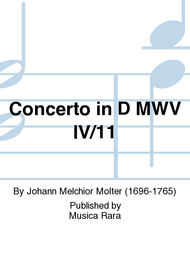 Concerto in D No. 5 Sheet Music by Johann Melchior Molter