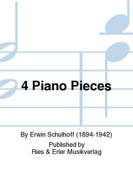 4 Piano Pieces Sheet Music by Erwin Schulhoff