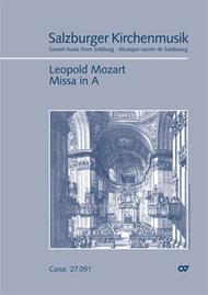 Missa in A Major Sheet Music by Leopold Mozart
