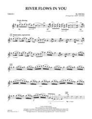 River Flows In You - Violin 1 Sheet Music by Larry Moore