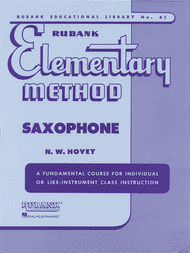 Rubank Elementary Method - Saxophone Sheet Music by Nilo W. Hovey