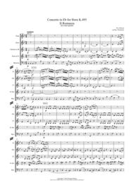Mozart: Horn Concerto in Eb K495. Mvt. II Romanza (Romance) - wind quintet (featuring horn) Sheet Music by Wolfgang Amadeus Mozart