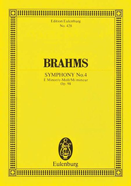 Symphony No. 4 E Minor op. 98 Sheet Music by Johannes Brahms