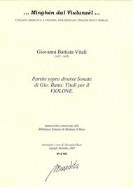 Partite sopra diverse sonate per il violone (Manuscript