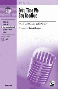 Ev'ry Time We Say Goodbye Sheet Music by Cole Porter