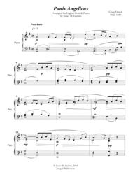 Franck: Panis Angelicus for English Horn & Piano Sheet Music by Cesar Auguste Franck