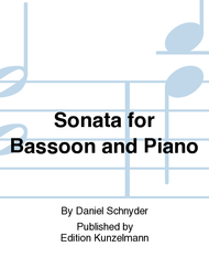 Sonata for Bassoon and Piano Sheet Music by Daniel Schnyder