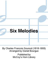 Six Melodies Sheet Music by Charles Francois Gounod