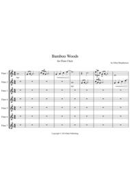 Bamboo Woods for Flute Choir Sheet Music by Ellen Macpherson