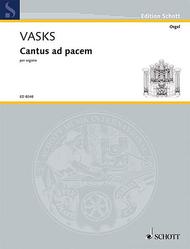 Cantus ad pacem Sheet Music by Peteris Vasks