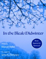 In the Bleak Midwinter (Horn in F Quartet) Sheet Music by Gustav Holst