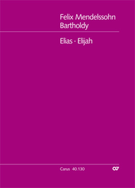 Elijah (Elias) Sheet Music by Felix Bartholdy Mendelssohn