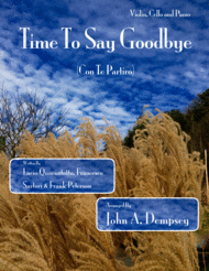 Time To Say Goodbye (Piano Trio) Sheet Music by Sarah Brightman with Andrea Bocelli