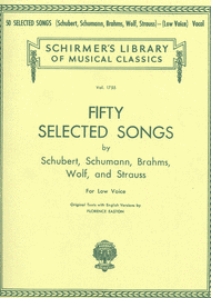 50 Selected Songs - Low Voice Sheet Music by Franz Schubert