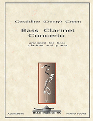 Concerto [piano reduction w/solo part] Sheet Music by Geraldine Green