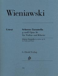 Scherzo-Tarantella in g minor Op. 16 for Violin and Piano Sheet Music by Henri Wieniawski