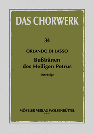 Busstranen des Heiligen Petrus Band 1 Sheet Music by Orlande De Lassus