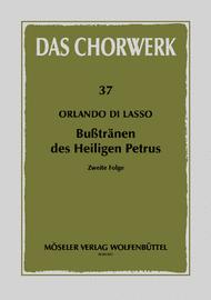Busstranen des Heiligen Petrus Band 2 Sheet Music by Orlande De Lassus