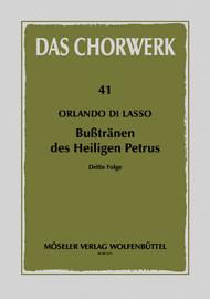 Busstranen des Heiligen Petrus Band 3 Sheet Music by Orlande De Lassus