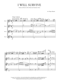 I Will Survive for Flute Quartet Sheet Music by Gloria Gaynor