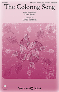 The Coloring Song Sheet Music by David Schmidt