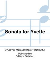 Sonatine Pour Yvette Sheet Music by Xavier Montsalvatge