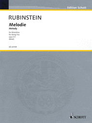Melody op. 3/1 Sheet Music by Grigorjewitsch Rubinstejn