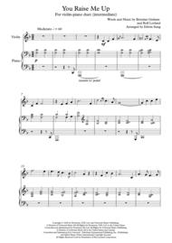 You Raise Me Up - violin and piano (intermediate