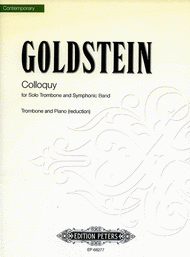 Colloquy for Solo Trombone and Symphonic Band Sheet Music by William Goldstein