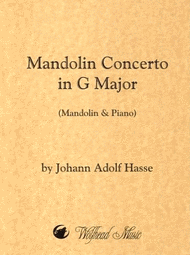 Mandolin Concerto in G Major Sheet Music by Johann Adolf Hasse