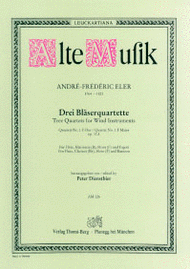 Wind Quartet Sheet Music by Andre Frederic Eler (1764-1821)