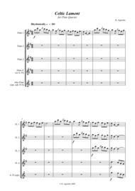 Celtic Lament - for Flute Quartet Sheet Music by Kate Agioritis