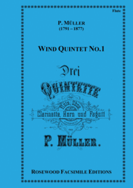 Drei Quintette Nr. 1 Sheet Music by Peter Muller