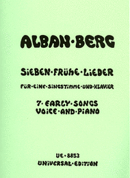 7 Early Songs Sheet Music by Alban Berg
