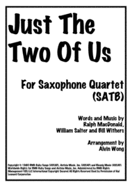 Just The Two Of Us - Saxophone Quartet Sheet Music by Ralph MacDonald