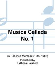 Musica Callada No. 1 Sheet Music by Federico Mompou