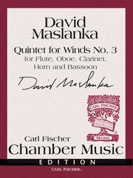 Quintet For Winds No. 3 Sheet Music by David Maslanka