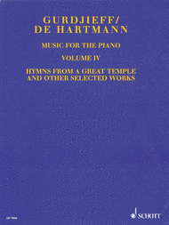 Music for the Piano - Volume IV Sheet Music by Georges Ivanovich Gurdjieff