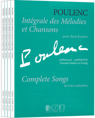 Complete Songs Sheet Music by Francis Poulenc