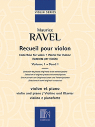 Collection for Violin - Volume 1 Sheet Music by Maurice Ravel