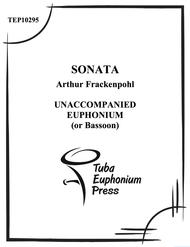 Sonata for Solo Euphonium Sheet Music by Arthur Frackenpohl