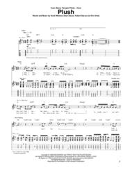Plush Sheet Music by Scott Weiland