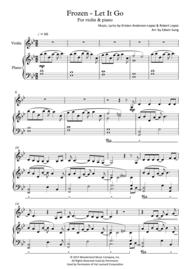 Frozen - Let It Go (for violin & piano