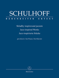 Jazz-inspired Works for Piano Sheet Music by Erwin Schulhoff