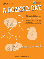 A Dozen a Day Book 2 - Book/Audio Sheet Music by Edna-Mae Burnam